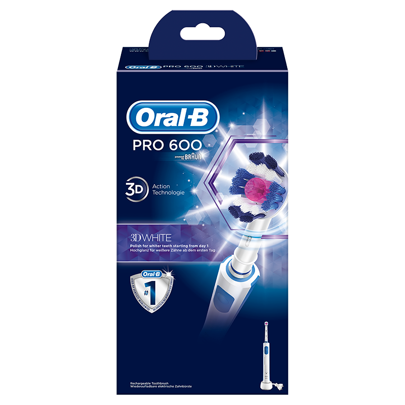 Oral-B Pro 600 3DWhite Elektrische Tandenborstel powered by Braun
