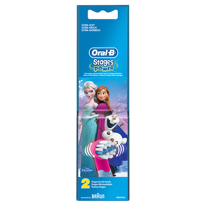 Oral-B Stages Power Elektrische Opzetborstels met Disney Frozen-figuren