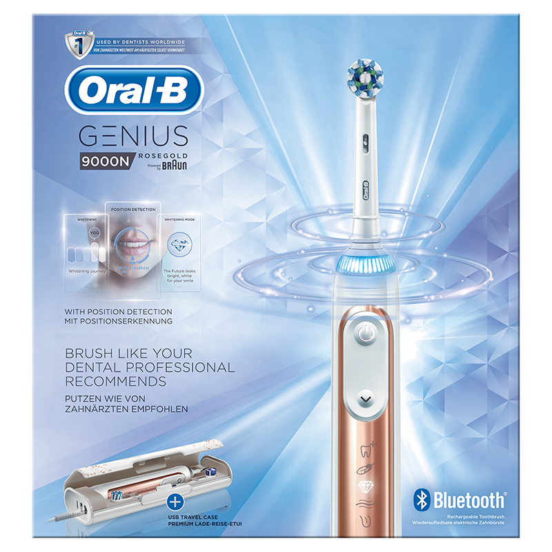Oral-B Genius 9000N Rosegold Elektrische Tandenborstel Powered By Braun