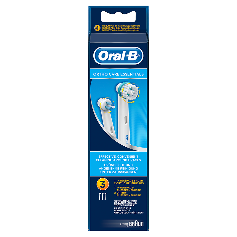 Oral-B Ortho Care Essentials Opzetborstels - 6 x 3 Stuks
