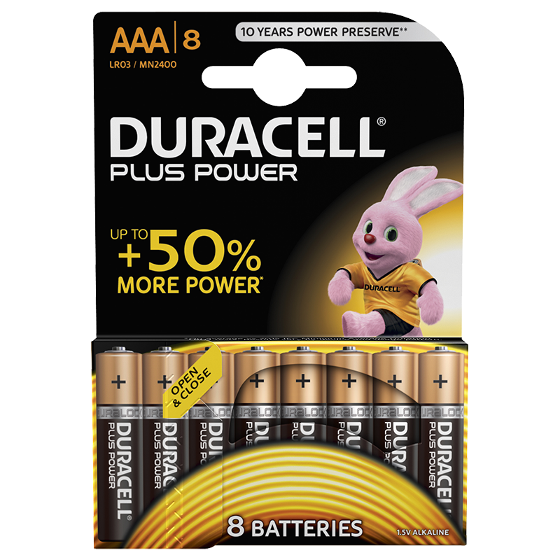 Duracell Plus Power 10x8 AAA incl. stibat