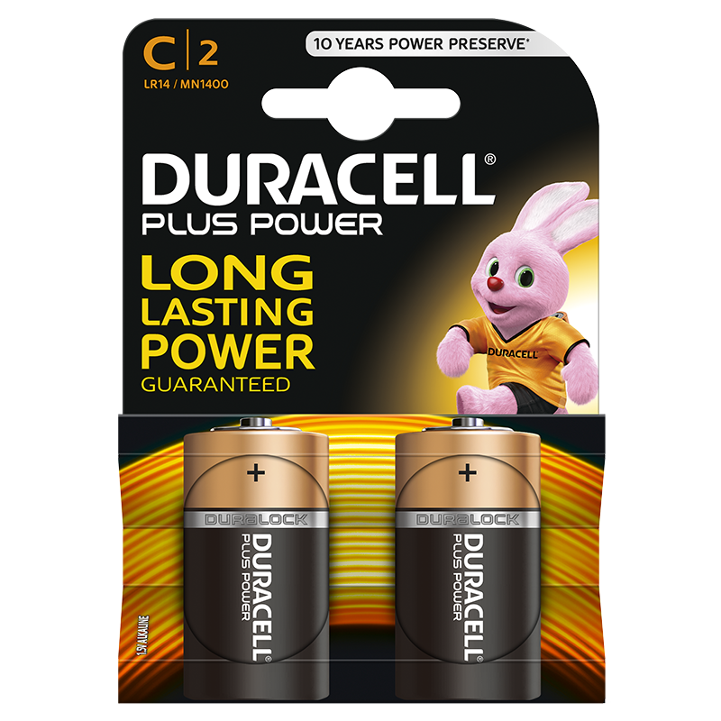 Duracell Plus Power C incl. stibat