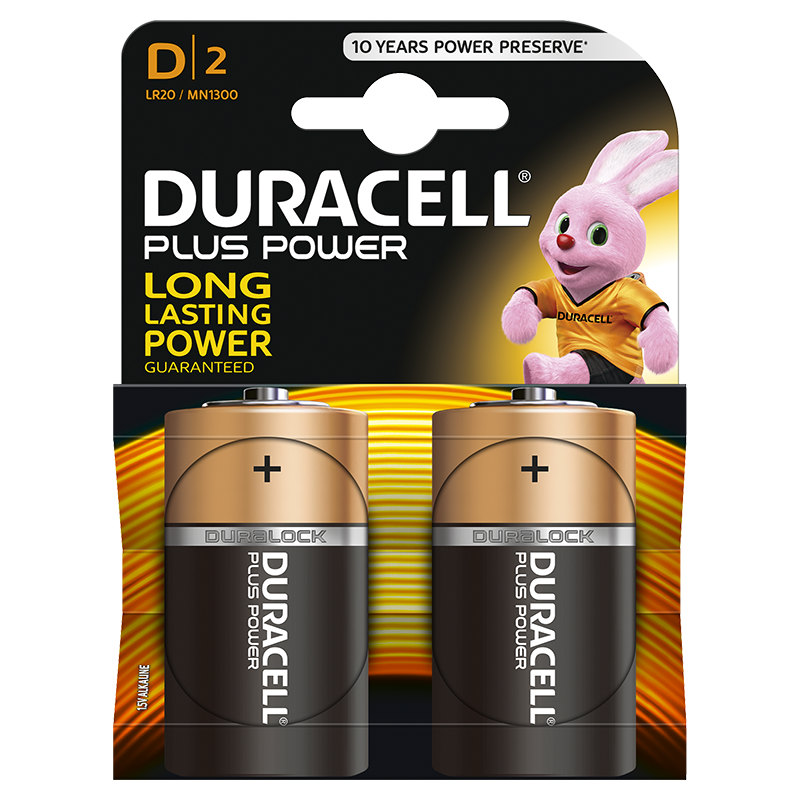 Duracell Plus Power D incl. stibat