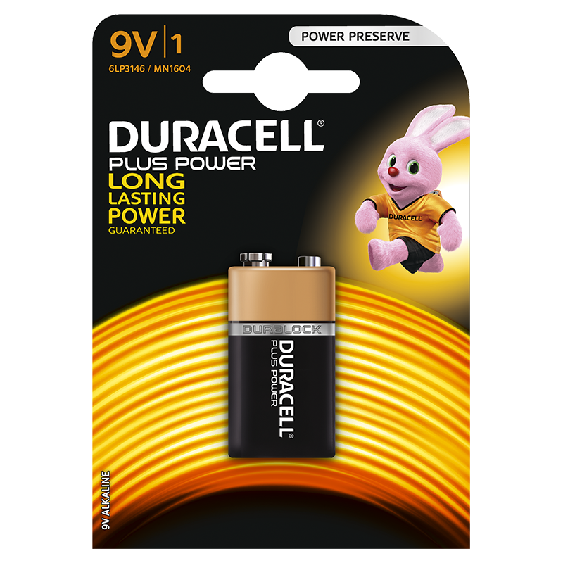Duracell Plus Power 9V incl. stibat