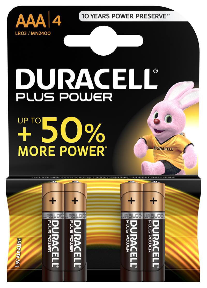Duracell Plus Power AAA incl. stibat