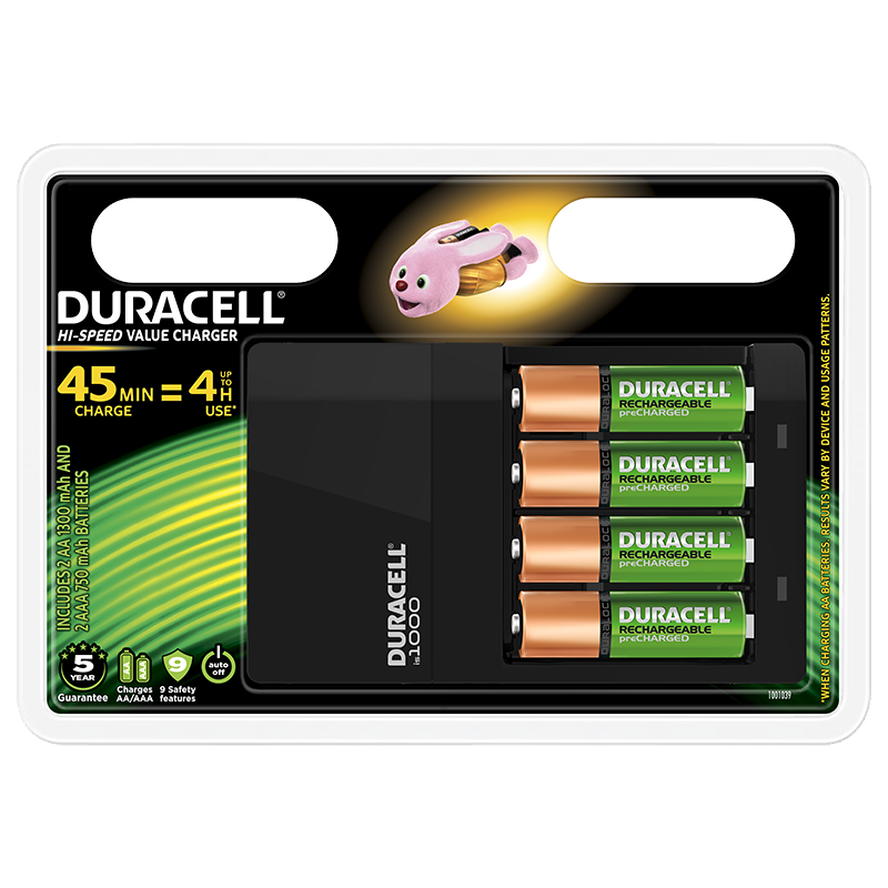 Duracell Oplader CEF 14 Hi-Speed Charger