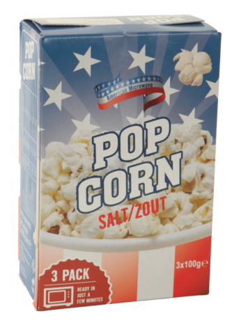 American magnetron popcorn zout