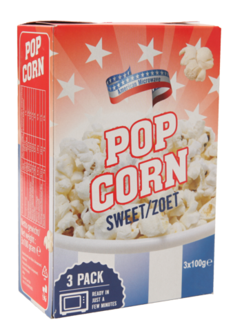 American magnetron popcorn zoet